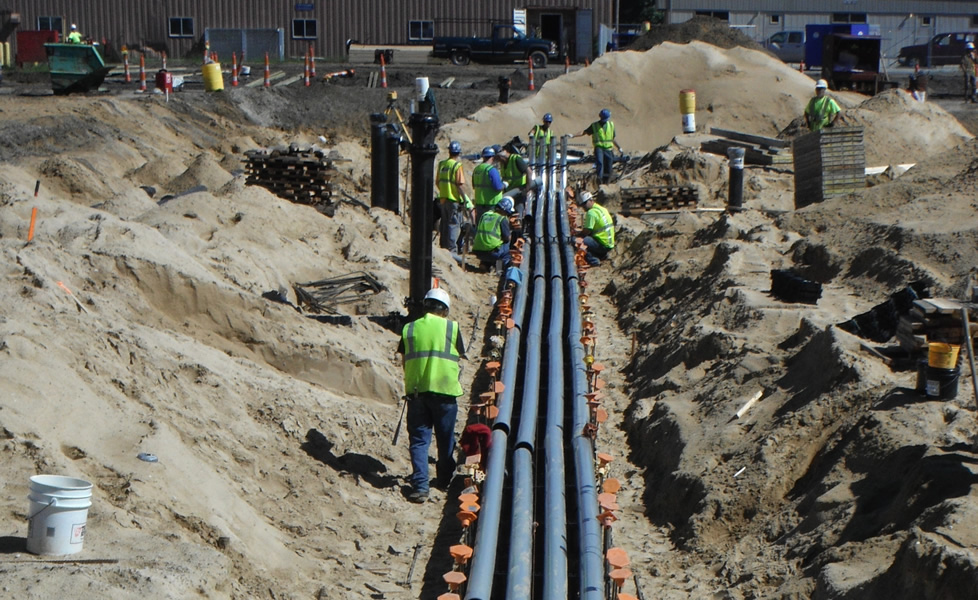 Storm Drain Conductor : Finished projects grand river construction inc